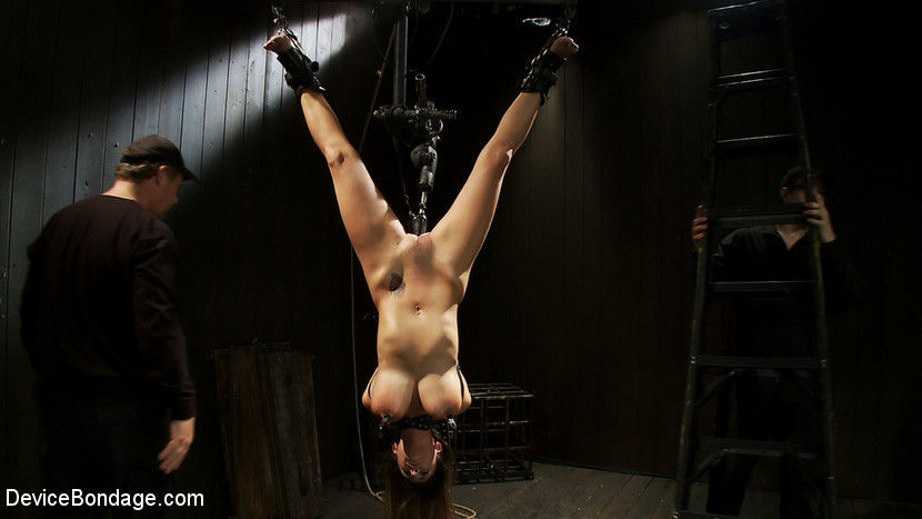 Extreme Bondage For Big Titty Fetish Slave Upside Down Tied And Hanging Fuskator 1