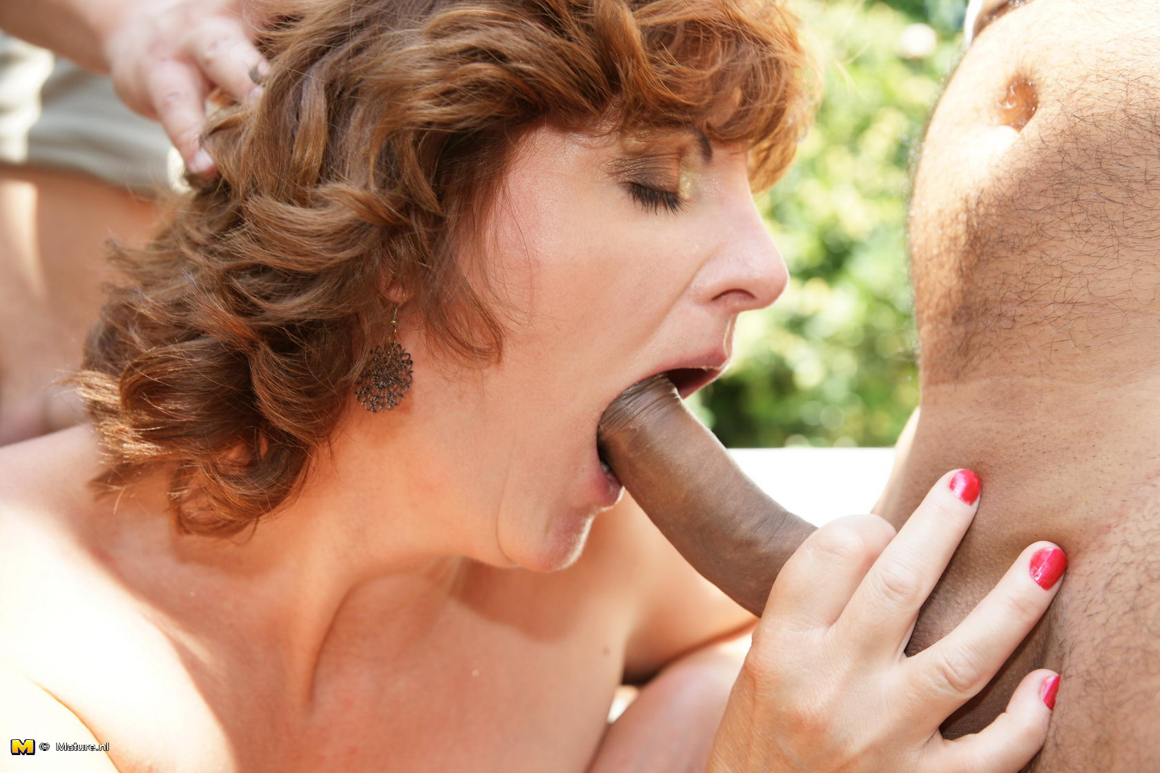 Women giving head to big cock sexual images