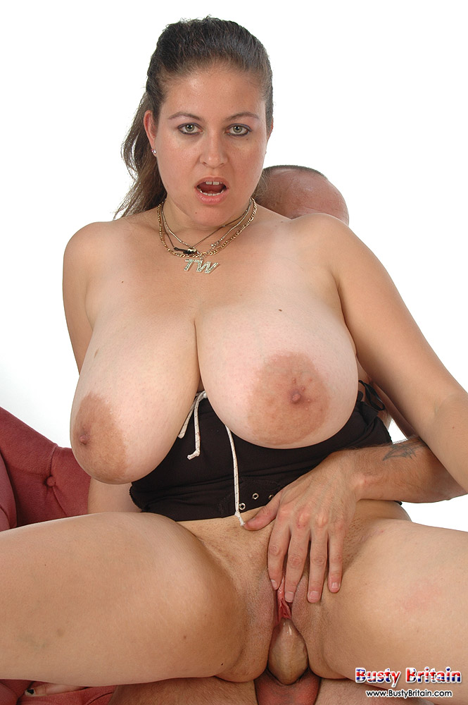 Busty denise davies takes 2 cocks