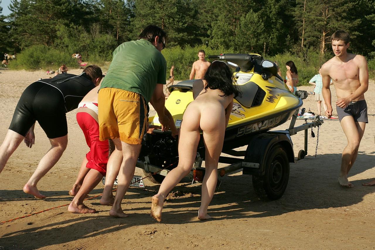 Girl naked infront of family #14