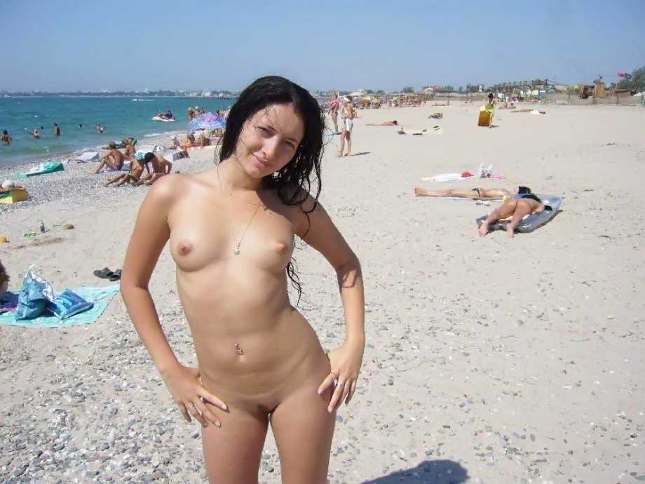 голая пляж фото-че1