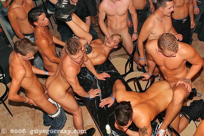 Hardcore gay group sex