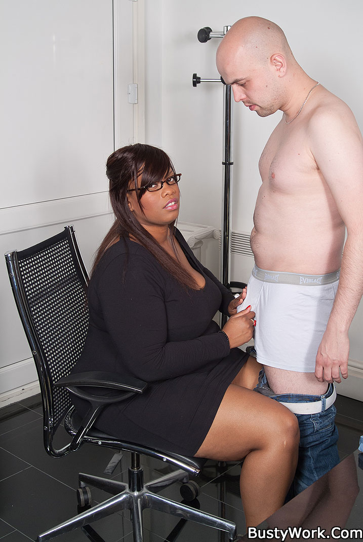 Black guy fucks his bbw boss
