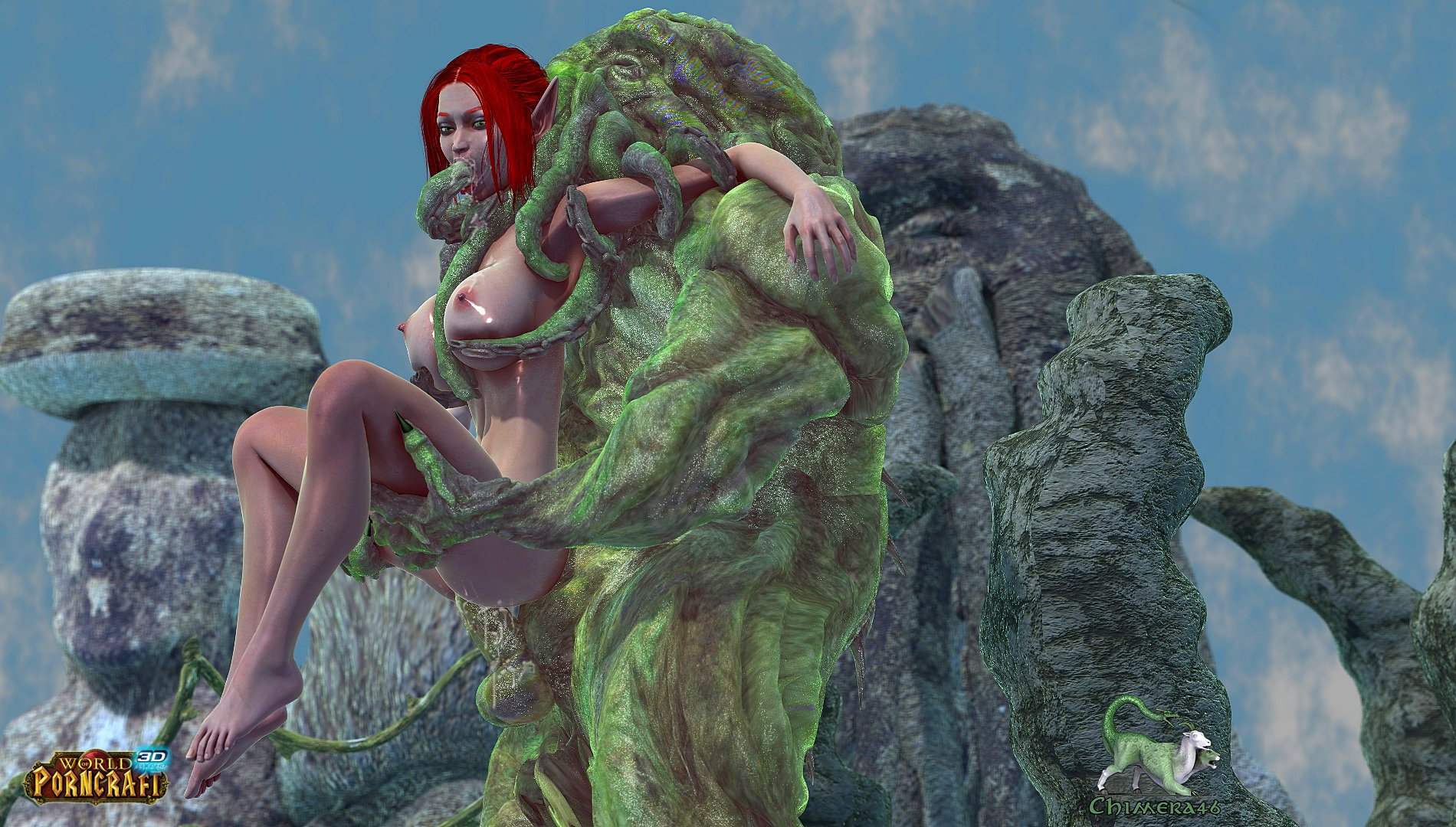 Monster fucks elf world of porncraft 3d adult curly wife
