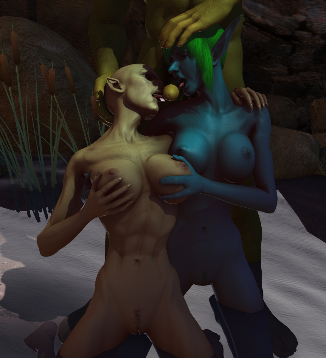 Demon fuck and piss elf chick adult girlfriends