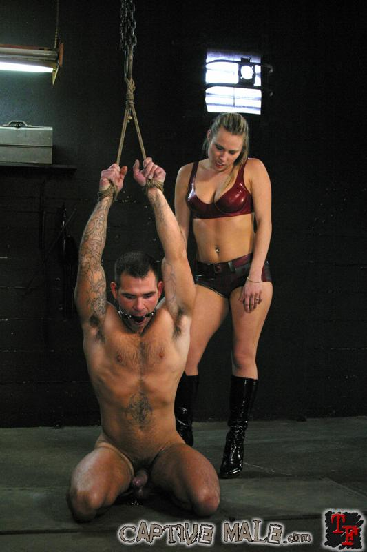 Tied up bondage sub spanked before anal fucking 10