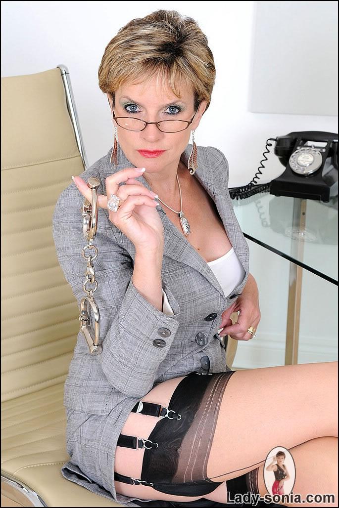 Lady sonia handcuffed